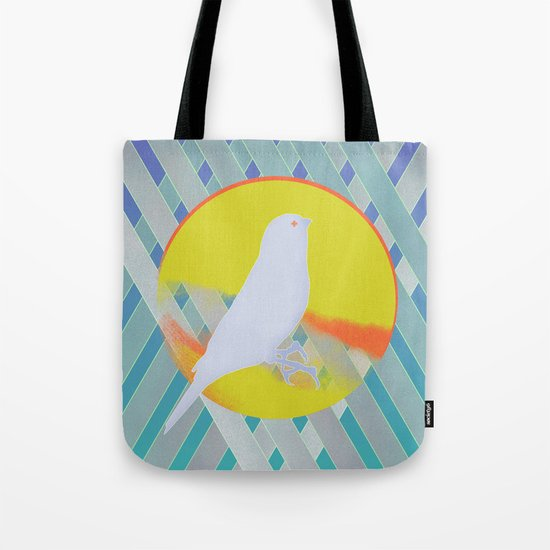 Bluebird waits summer Tote Bag