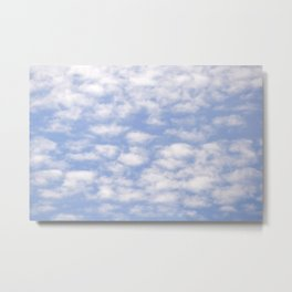 Summer Sky With White Sheep Shaped Clouds #decor #society6 Metal Print