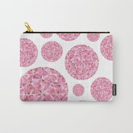 Red Round Gem Pattern Carry-All Pouch