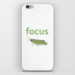 Focus Grasshopper iPhone Skin