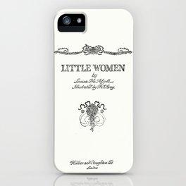 Little Women Louisa May Alcott Title Page iPhone Case