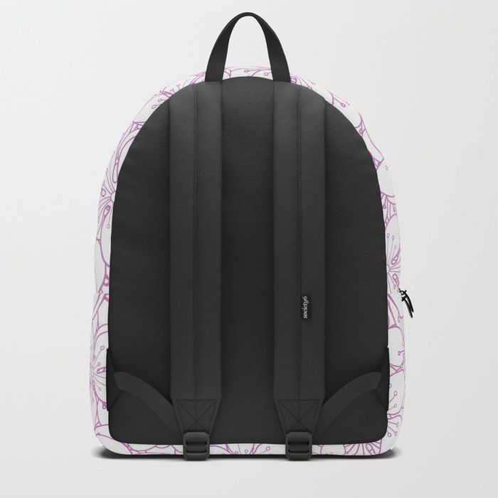 Cherry Blossom Pink Outline - In Memory of Mackenzie Backpack