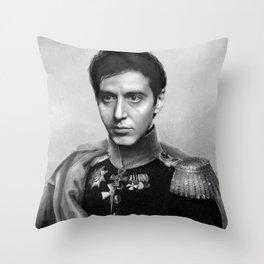 Al Pacino Scar Face General Portrait Painting | Fan Art Throw Pillow