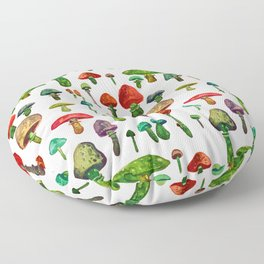 littel mushrooms Floor Pillow