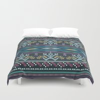 peru Duvet Covers featuring From Peru to You-color by Katie Boland