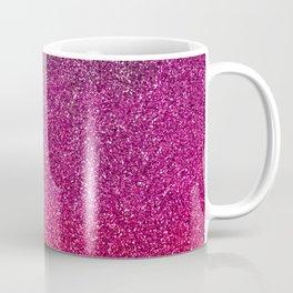 Modern pink purple ombre faux glitter color block Coffee Mug