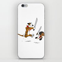 hobbes iPhone & iPod Skins featuring Bonifacio and Hobbes by Cesar Cueva