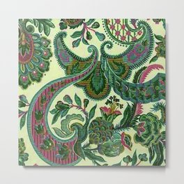 Eleganza Paisley Floral Metal Print
