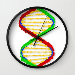 Twin DNA Strands Wall Clock