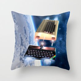 Commodore 64 vs Sinclair ZX Spectrum Throw Pillow
