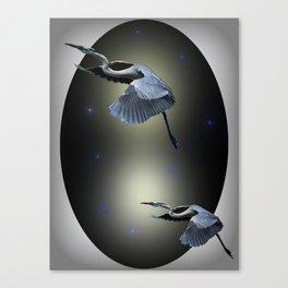 Heron Escape Canvas Print