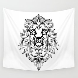 Heraldic Lion Head Wall Tapestry