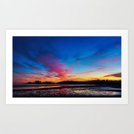 Sunset over the Beach at Tofino Art Print