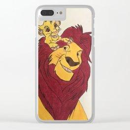 Simba & Mufasa Clear iPhone Case
