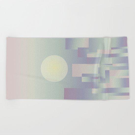 Opalescent dawning Beach Towel