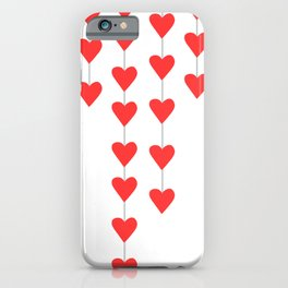 Red Heart Strings iPhone Case