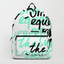 The sun shines equally for everyone Backpack