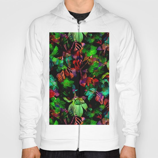 Colorful Floral Pattern Hoody