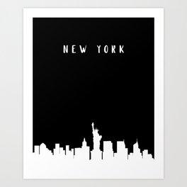 N E W Y O R K Art Print