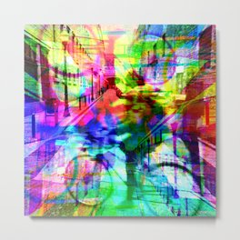 People interacting rationally exist around withal. [RGB] Metal Print