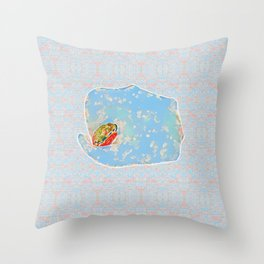 Flower Frog Throw Pillow