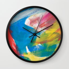 Abstract Artwork Colourful #4 Wall Clock