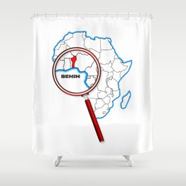 Benin Under The Magnifying Glass Shower Curtain