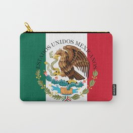 Flag of Mexico & Coat of Arms augmented scale Carry-All Pouch