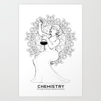 chemistry Art Prints featuring Chemistry by Verdant Winter