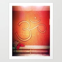 ohm Art Prints featuring ohm by melanielaurene