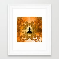 buddha Framed Art Prints featuring Buddha  by nicky2342