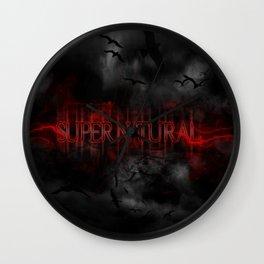 Supernatural darkness Wall Clock