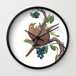 Mourning Doves Wall Clock