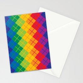Rainbow Argyle Stationery Cards
