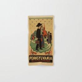 Vintage poster - Pennsylvania Hand & Bath Towel