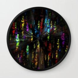 Smoky colours Wall Clock