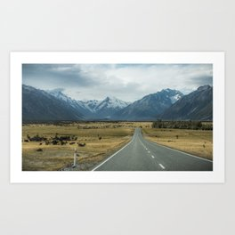 Mount Cook Road 3 Art Print