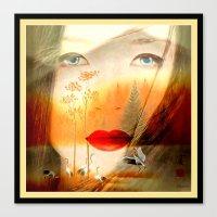 geisha Canvas Prints featuring Geisha by elkart51