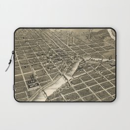 Vintage Pictorial Map of South Bend IN (1890) Laptop Sleeve