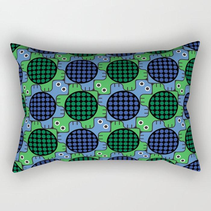 Tesselating Turtles Rectangular Pillow