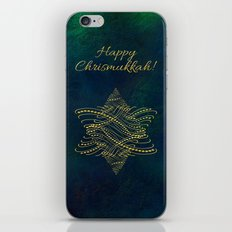 Happy Chrismukkah! iPhone & iPod Skin