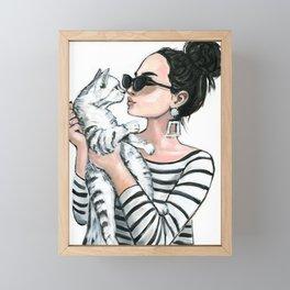 kiss me Framed Mini Art Print