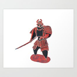 Shogun Warrior Art Print