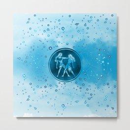 Gemini Zodiac Sign Air Element Metal Print