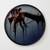 hands Wall Clocks featuring Hands by Jyri Straechav
