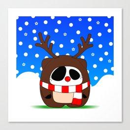Panda Plopz (Reindeer) Canvas Print