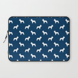 Boston Terrier silhouette pet art dog pattern boston terrier pattern Laptop Sleeve