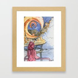 MoonFoxSea Framed Art Print