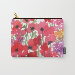 Little Red Poppy Patch Carry-All Pouch