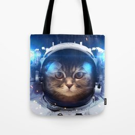 Beautiful cat in outer space Tote Bag